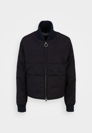 CROPPED PUFFER - Bomber Jacket - navy/red