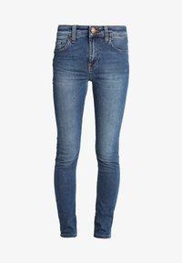Nudie Jeans - HIGHTOP TILDE - Jeansy Skinny Fit - blue stellar - 4