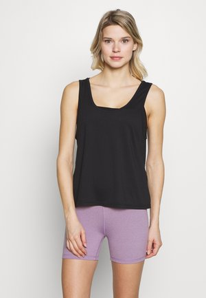 TWIST BACK TANK - Topper - black