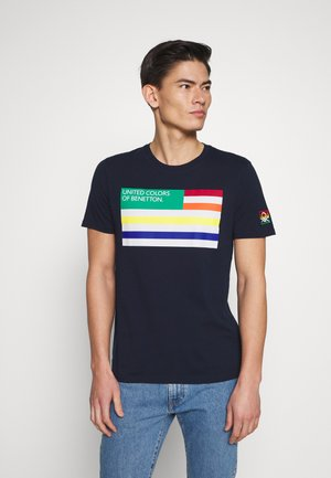 FLAG FRONT - T-shirt med print - darkblue