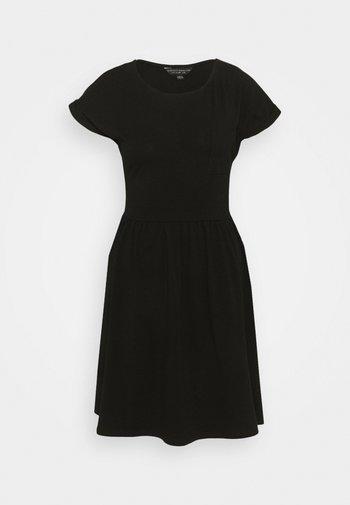 SMOCK DRESS - Jersey dress - black