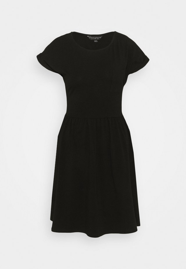 SMOCK DRESS - Žerzejové šaty - black