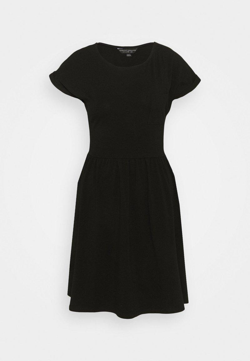 Dorothy Perkins - SMOCK DRESS - Žerzejové šaty - black