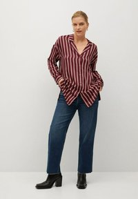 Violeta by Mango - RALLON - Button-down blouse - maroon - 1