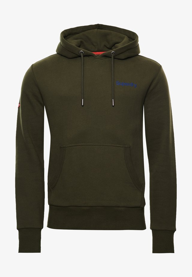 Hoodie - drab overall green