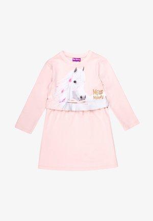 MISS MELODY - Jersey dress - white