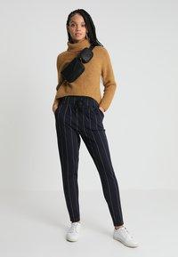 ONLY - ONLPOPTRASH TEMPO STRIPE PANT  - Trousers - night sky/white - 1