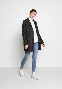 Vero Moda Tall - VMBRUSHEDKATRINE JACKET - Classic coat - dark grey melange - 1