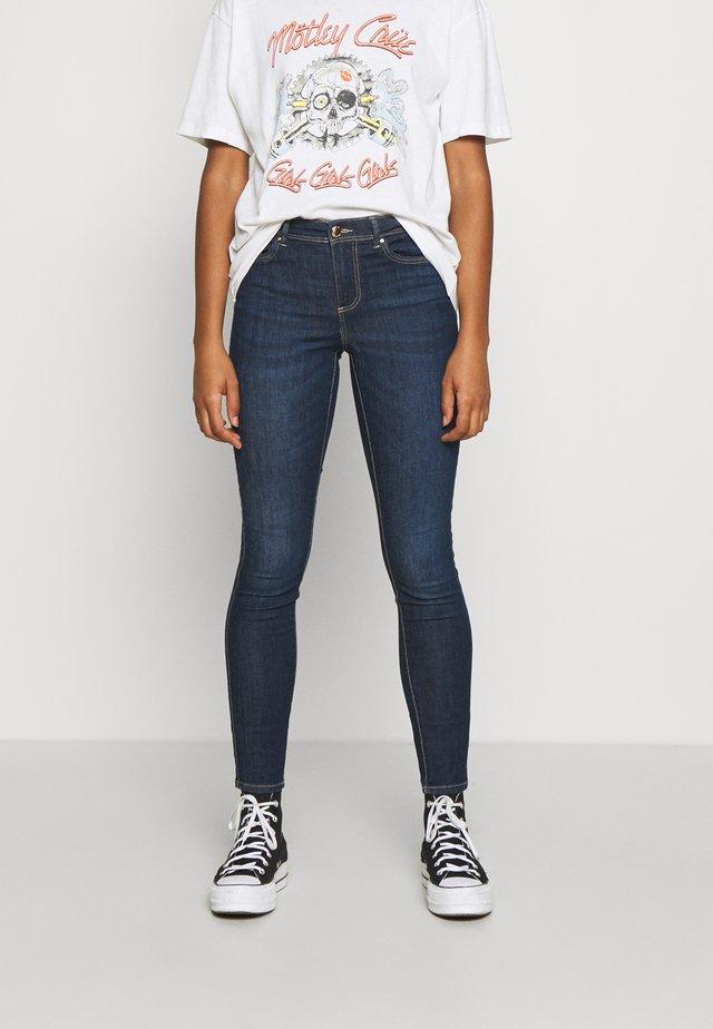 ONLWAUW LIFE MID  - Jeans Skinny Fit - dark blue denim