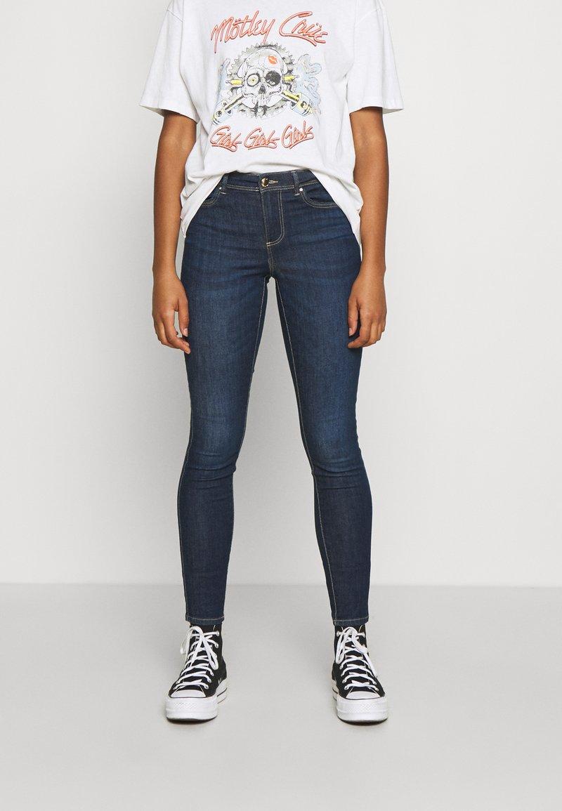 ONLY - ONLWAUW LIFE MID  - Jeans Skinny Fit - dark blue denim