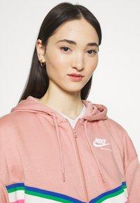 Nike Sportswear - Zip-up sweatshirt - rust pink/white - 4