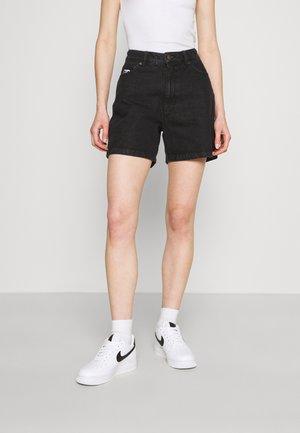 WASHED - Denim shorts - black