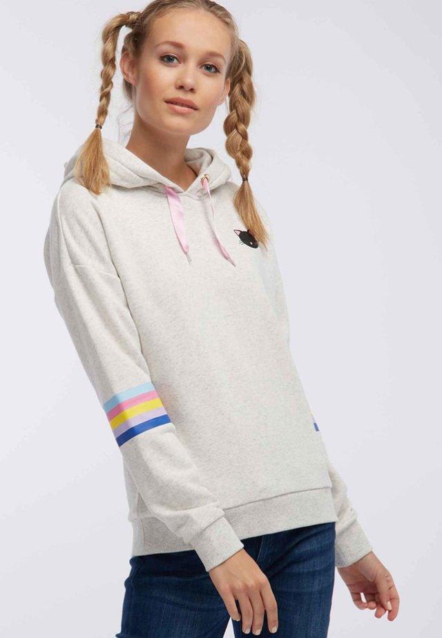Felpa con cappuccio - wool white melange