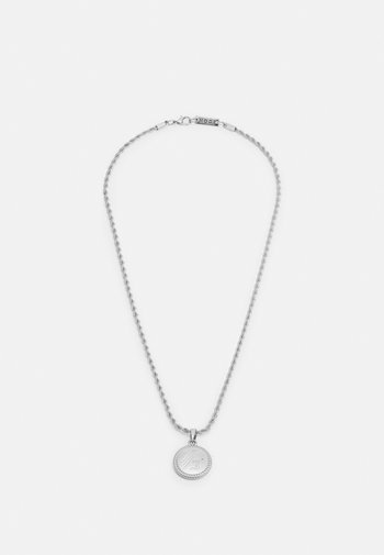 ROUND ROPE PENDANT WITH ENGRAVING - Necklace - silver-coloured