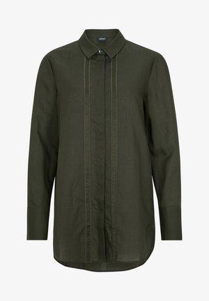 Button-down blouse - dark khaki green