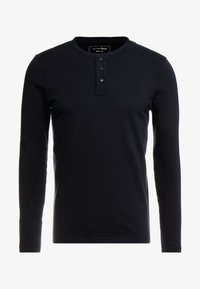 TOM TAILOR DENIM - STRUCTURED FABRIC - Long sleeved top - sky captain blue - 3