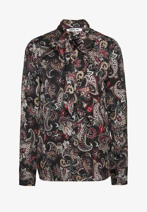 BLOUSES - Button-down blouse - black/sand/natural white/red