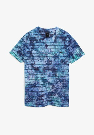 Print T-shirt - english lavender tie dye