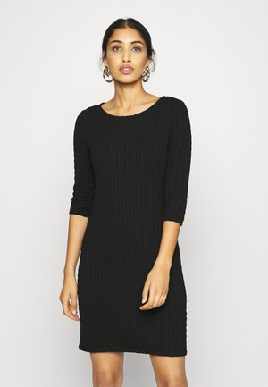 ONLRANDY 3/4 DRESS - Shift dress - black