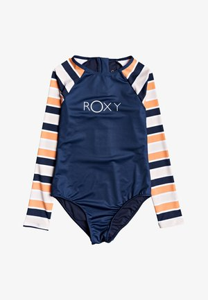 ROXY™ MADE FOR ROXY - LANGÄRMLIGER RASHGUARD-EINTEILER MIT REISSV - Swimsuit - cadmium orange pong stripes s