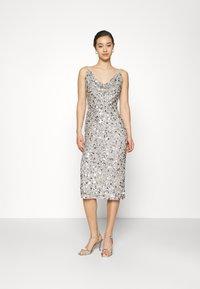 Lace & Beads - MARITA MIDI - Cocktail dress / Party dress - grey - 1