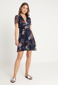 Vero Moda - VMKATINKA SHORT DRESS - Day dress - navy blazer/katinka - 1