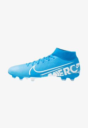 MERCURIAL 7 ACADEMY FG/MG - Moulded stud football boots - blue hero/white/obsidian