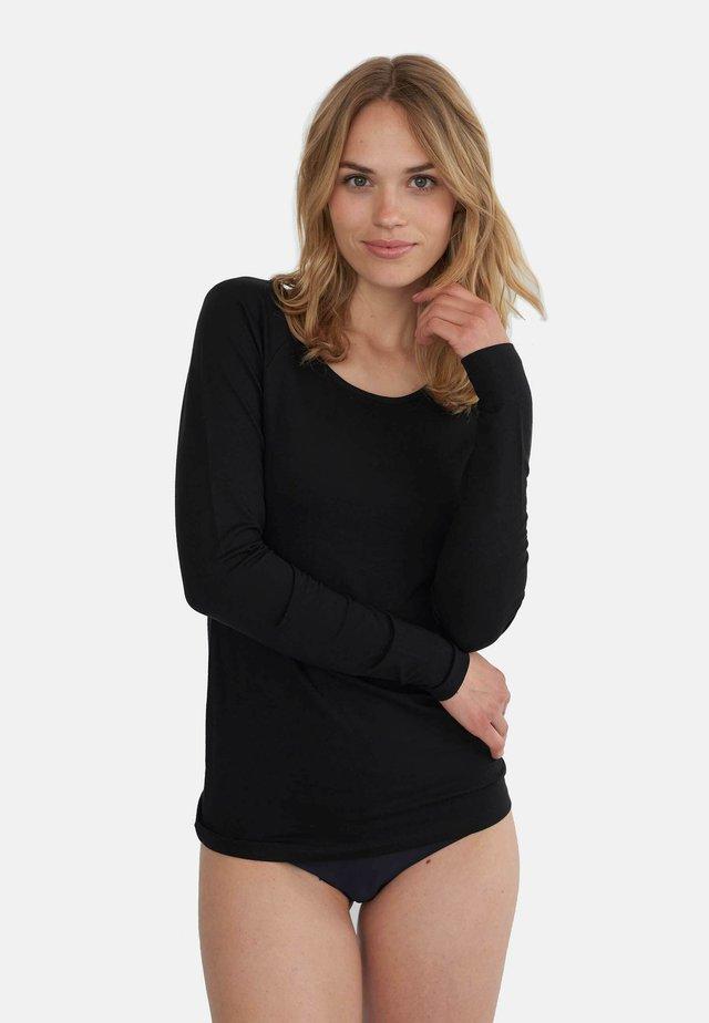 SOLVEJ - Langærmede T-shirts - black