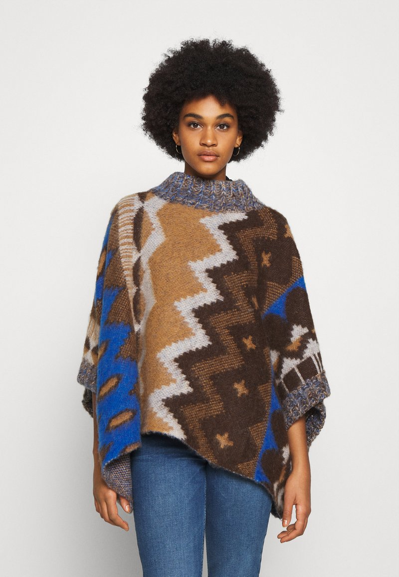 Free People - TRAIL PONCHO - Kapper - timber combo