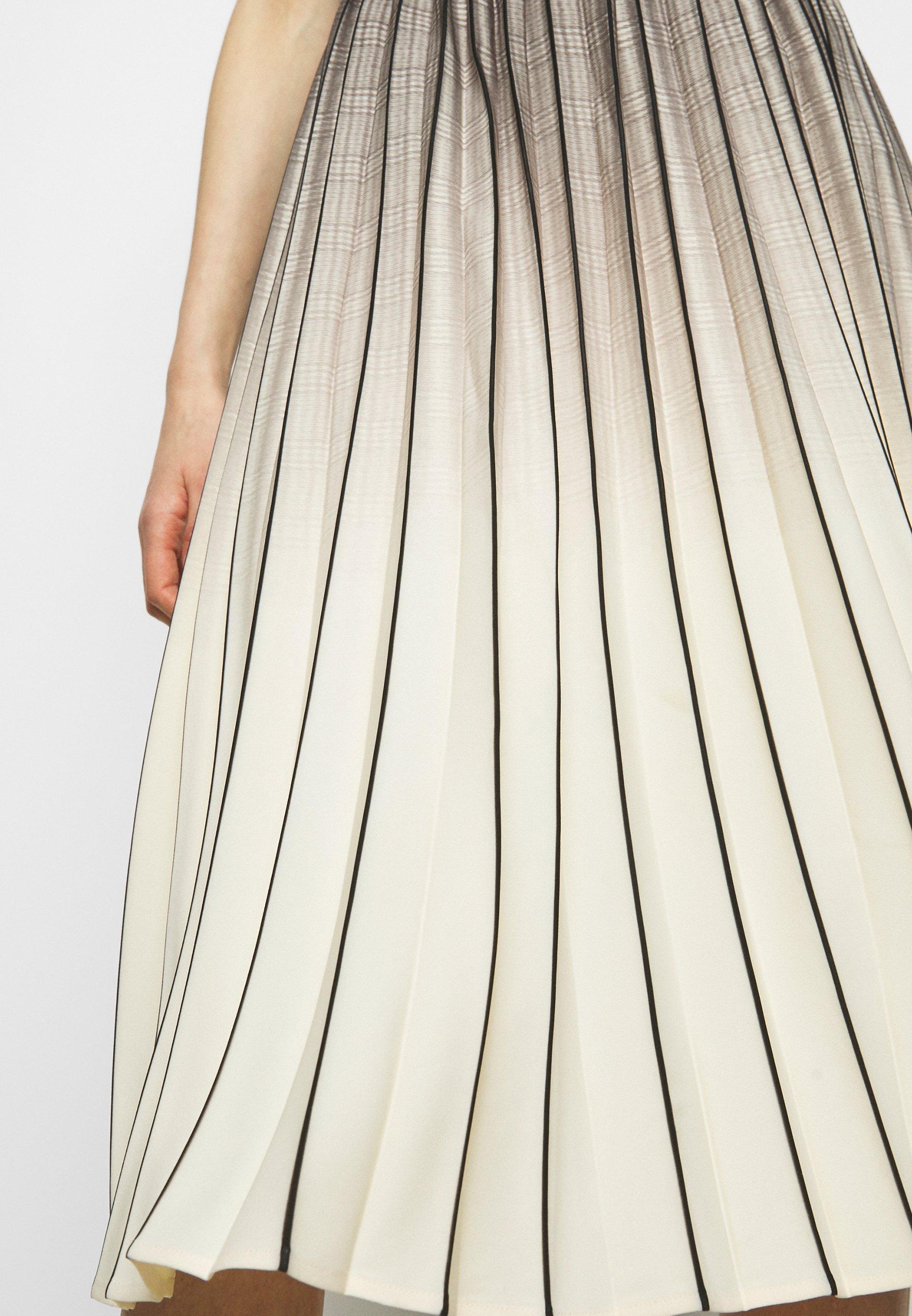 Women OMBRE PLAID PLEATED SKIRT - A-line skirt