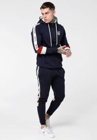 SIKSILK - OLD ENGLISH BORG QUARTER ZIP - Sweater - navy