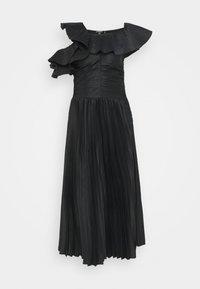 Missguided Tall - ONE SHOULDER PLEATED SKIRT DRESS - Vestido de cóctel - black - 0