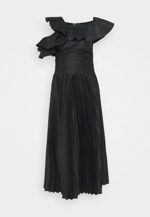 ONE SHOULDER PLEATED SKIRT DRESS - Koktejlové šaty / šaty na párty - black