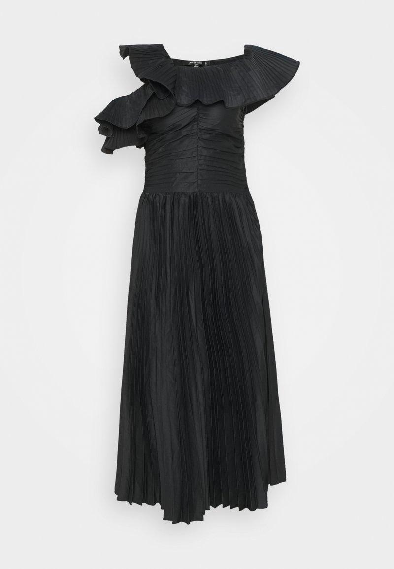 Missguided Tall - ONE SHOULDER PLEATED SKIRT DRESS - Vestido de cóctel - black
