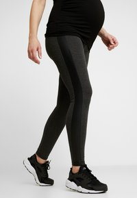 9Fashion - PATRAS - Leggings - Trousers - anthracite melange - 0