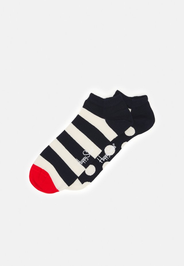 BIG DOT STRIPE LOW SOCK 2 PACK - Strømper - dark blue/white