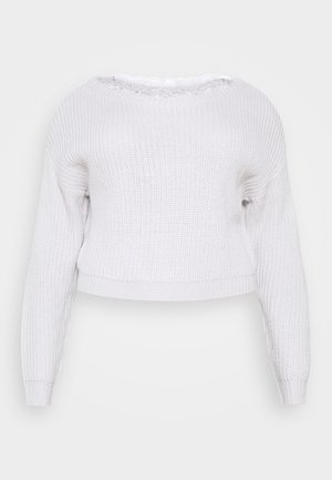 SHOULDER JUMPER - Stickad tröja - grey