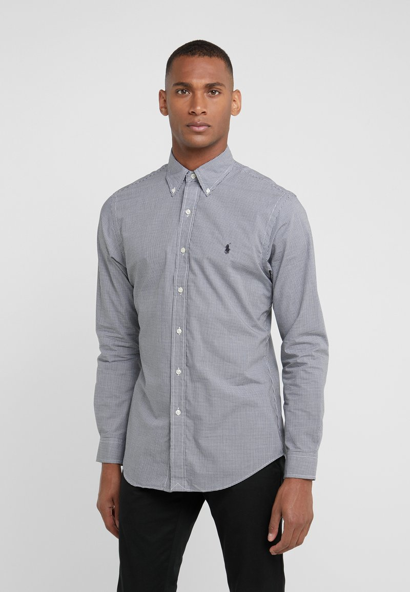 Polo Ralph Lauren - NATURAL SLIM FIT - Shirt - black/white