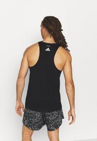 adidas Performance - RUN LOGO TANK M - Sports shirt - black - 2