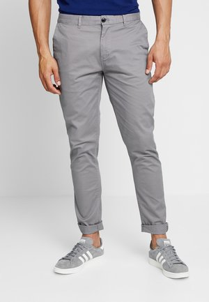 STUART CLASSIC SLIM FIT - Chinosy - grey