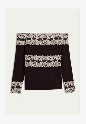 PRETTY FLOWERS - Pyjama top - braun - coffee brown