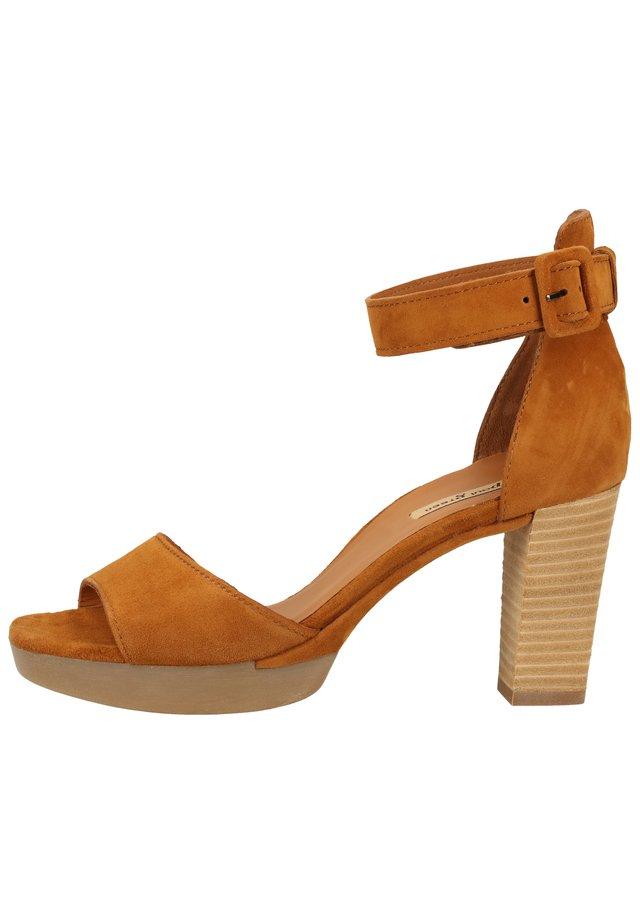 PUMPS - High heeled sandals - mittelbraun 16
