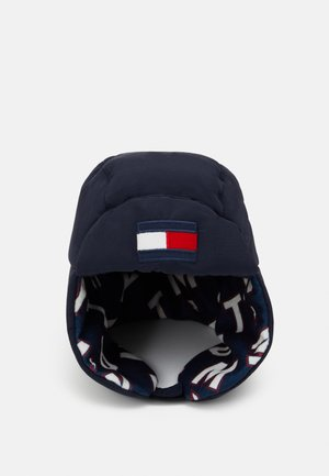 BIG FLAG PUFFER HAT - Čepice - blue