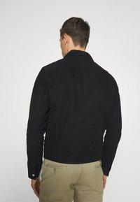 Selected Homme - SLHICONIC BLOUSON - Kožená bunda - black - 2