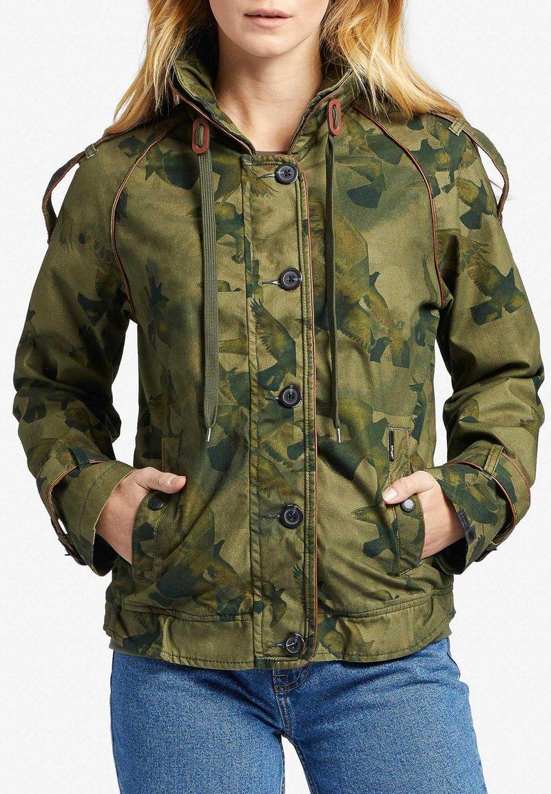 khujo - STACEY - Light jacket - khaki gemustert