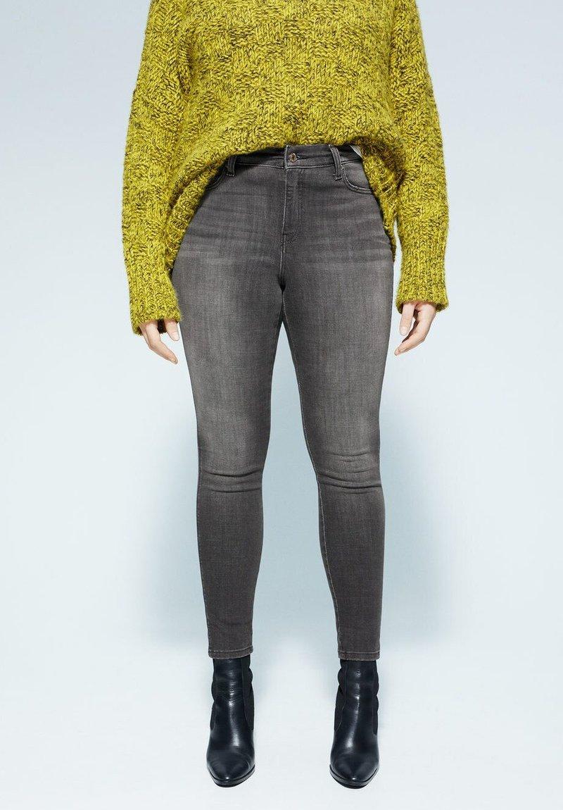 Violeta by Mango - IRENE - Slim fit jeans - denim grau