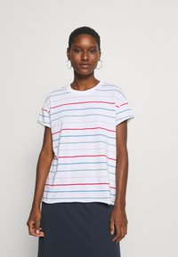 Marc O'Polo DENIM - SHORT SLEEVE A SHAPED DYE STRIPE - Print T-shirt - multi/scandinavian white - 2