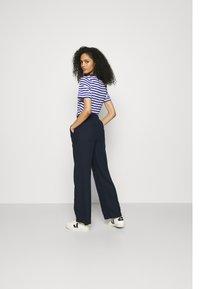 Marks & Spencer London - WIDE LEG - Trousers - dark blue - 2