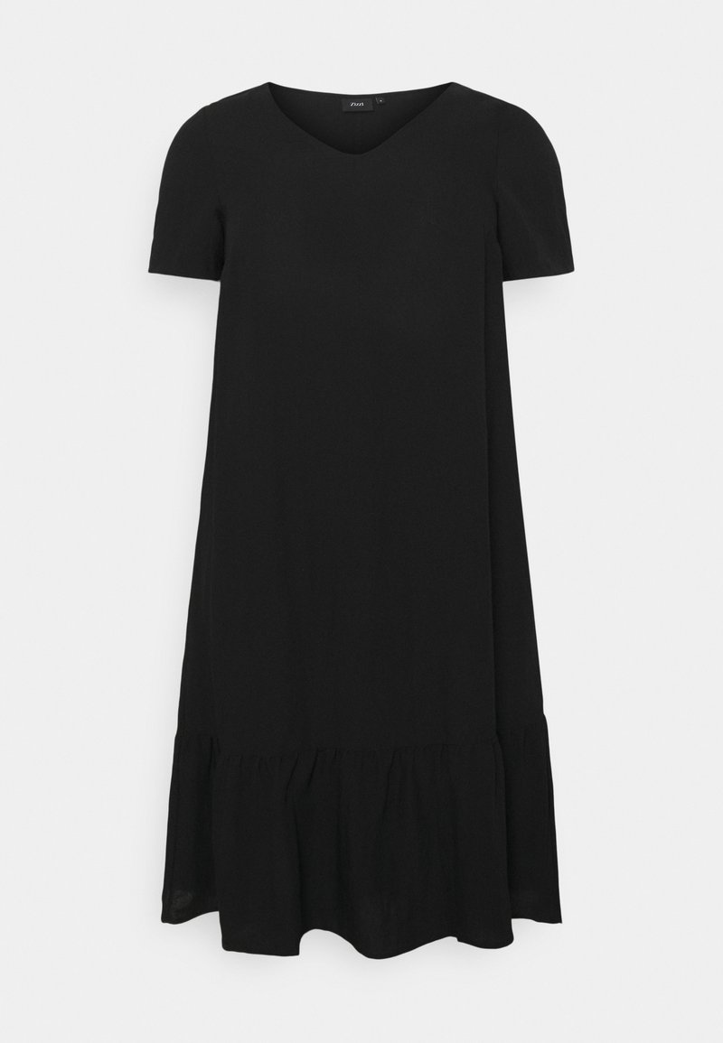 Zizzi - VMACY DRESS - Jersey dress - black