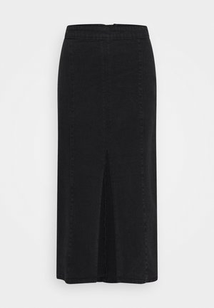 EBNA RIKKA SKIRT - Falda de tubo - black wash